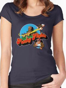 Funky Flights  Women's Fitted Scoop T-Shirt