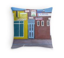 Yellow Laundry Throw Pillow