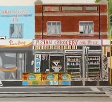 Asian Grocery Store by Joan Wild
