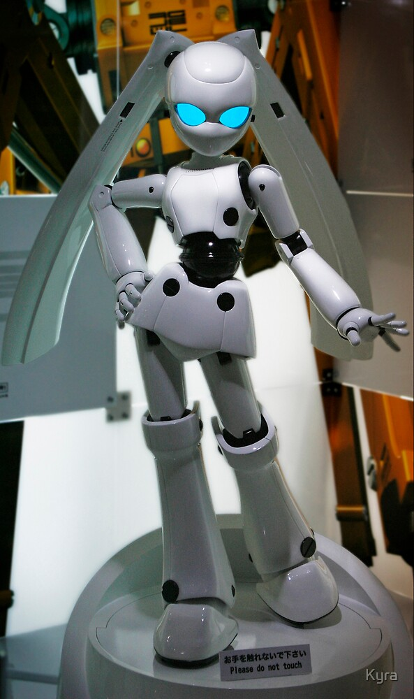 Robot bunny by Kyra  Webb