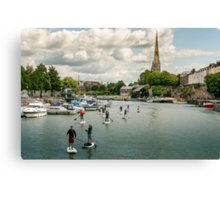 Stand Up Paddle, Bristol Canvas Print