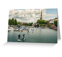Stand Up Paddle, Bristol Greeting Card