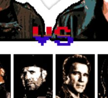 Expendables 2 8-Bit Game Sticker