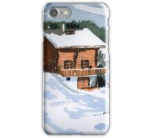 Snowed In Watercolor iPhone Case/Skin