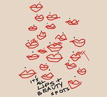 'Lips & Beauty Spots' Womens Fitted T-Shirt