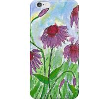 Purple Coneflowers Watercolor iPhone Case/Skin