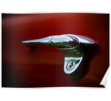 Chrome on Red Poster