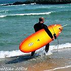 #379   Long Board Surfer by MyInnereyeMike