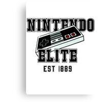 college shirt nintendo Canvas Print