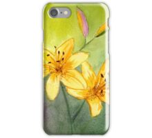 Lilies and Buds Watercolor iPhone Case/Skin