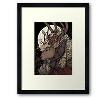 The Elk King Framed Print