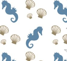 Seahorse and Shells Pattern Sticker