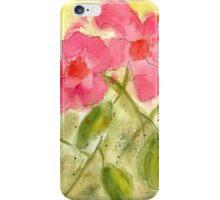 Tropical Hibiscus Watercolor iPhone Case/Skin