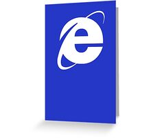 Internet Explorer: A More Beautiful Web Greeting Card