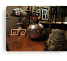 Sideboard & Mirror Reflections Canvas Print