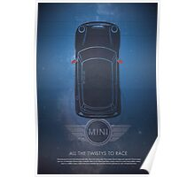 "MINI Cooper Dr Who ""All the twisties to race"" Poster"