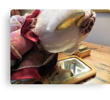 Lucy Discovers A Hand Mirror Canvas Print