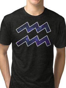 Purple Broccoli [White Outline] | Age of Aquarius Tri-blend T-Shirt