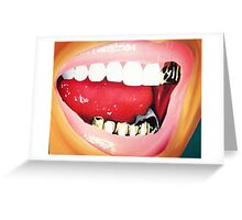 Smiling Grill Greeting Card