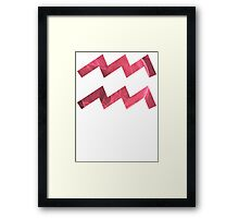 The Ever-Playful Mew [White Outline] | Age of Aquarius Framed Print