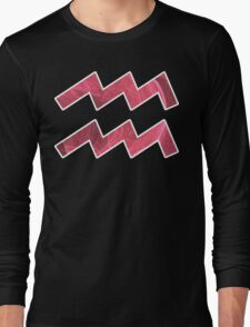 The Ever-Playful Mew [White Outline]   Age of Aquarius Long Sleeve T-Shirt