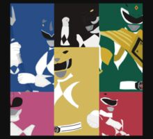 Mighty Morphin Power Rangers T-Shirt by simplepete