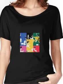 Mighty Morphin Power Rangers T-Shirt Women's Relaxed Fit T-Shirt
