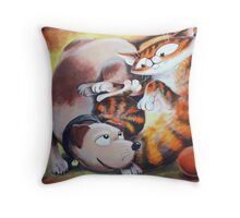 Tangled Toys - Art by TET Throw Pillow