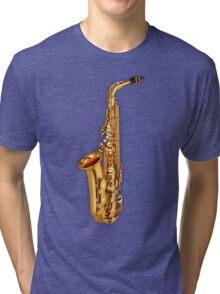 Saxophone Gold  Tri-blend T-Shirt