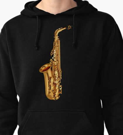 Saxophone Gold  Pullover Hoodie