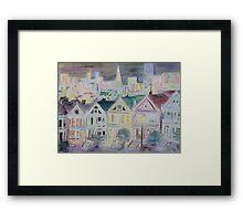 san francisco houses Framed Print