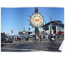 Fishermans Wharf San Francisco California Poster