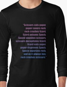 The Big Bang Theory - The Lizard-Spock Expansion Long Sleeve T-Shirt