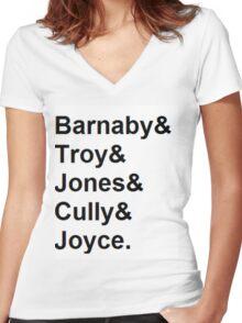 Midsomer Murders - Helvetica List Women's Fitted V-Neck T-Shirt
