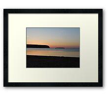 Serene Summer Water Sunset  Framed Print