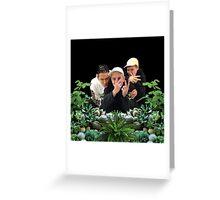 SAD BOYS PLANTS Greeting Card