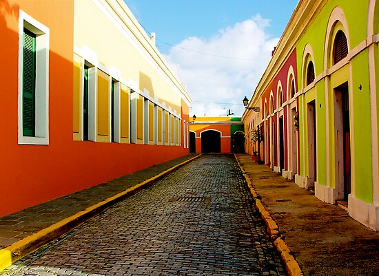 Old San Juan Colors by picart