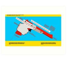 Firearms Safety Poster: NES Zapper edition Art Print