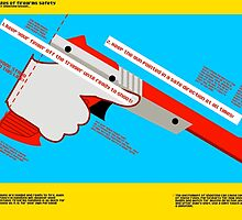 Firearms Safety Poster: NES Zapper edition by Tillywinks