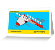 Firearms Safety Poster: NES Zapper edition Greeting Card