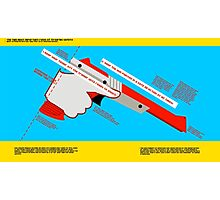 Firearms Safety Poster: NES Zapper edition Photographic Print