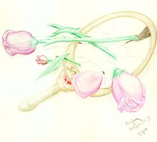Broken Roses & Broken Mirror by Amber Werden