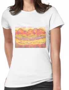 She Laughs At The Future Watercolor Painting Womens Fitted T-Shirt