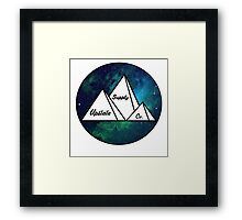Upstate Supply Co- Mountain Nebula Framed Print