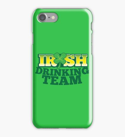 IRISH drinking Team with beer pint and Shamrock iPhone Case/Skin