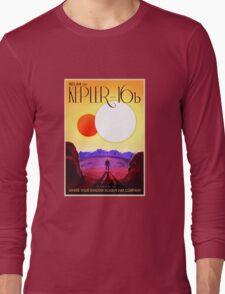 Nasa Travel Poster-Kepler-16b Long Sleeve T-Shirt
