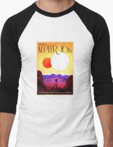 Nasa Travel Poster-Kepler-16b Men's Baseball ¾ T-Shirt