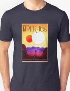 Nasa Travel Poster-Kepler-16b Unisex T-Shirt