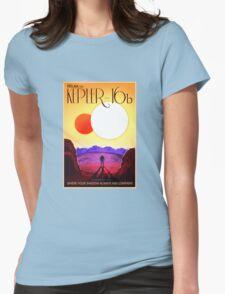 Nasa Travel Poster-Kepler-16b Womens Fitted T-Shirt