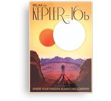 Nasa Travel Poster-Kepler-16b Metal Print